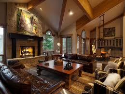 classic living room with fireplace home decorations