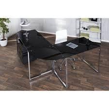 Schreibtisch Schwarz Schreibtisch Konsolentisch Eck Schreibtisch Lagune 180x60 Glas Schwarz