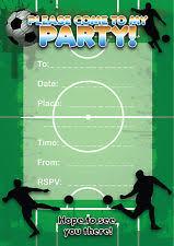 football party invitations ebay