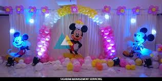 birthday decorations mickey mouse themed birthday decoration le royal park hotel