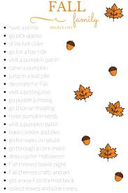 fall family list buckets autumn and printing