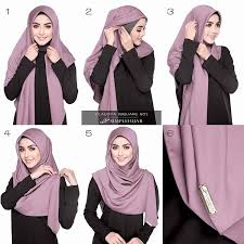 tutorial hijab segi empat paris simple hijab tutorial untuk pesta hijab style 6