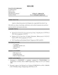 objective statement for engineering resume luxury ideas