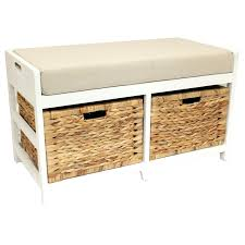 Cushioned Storage Bench Size 1280 960 Wicker Storage Bench Decor All About Long With2