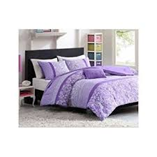Teen Floral Bedding Amazon Com Full Queen Purple Polka Dot Paisly Floral Comforter