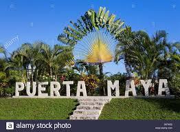 Yucatan Peninsula Map Sign In Puerta Maya Cozumel Quintana Roo Yucatan Peninsula