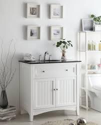 Bathroom Vanity Unit Worktops Enthralling Cottage Style Bathroom Vanities White For Beadboard