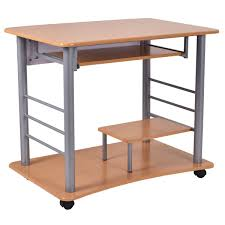 Small Space Computer Desk by Amazon Com Tangkula Rolling Computer Desk Laptop Pc Table For