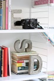 monogram bookends 43 diy concrete crafts and projects page 7 of 9 diy