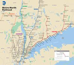 Map Of Manhattan New York City by Map Of Nyc Commuter Rail Stations U0026 Lines