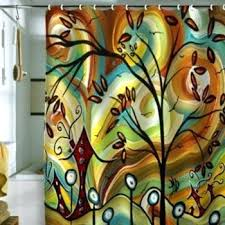 Colorful Fabric Shower Curtains Deny Designs Madart Inc Fall Colors Fabric Shower Curtain Fall