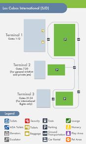 san jose airport on map cabo san lucas airport sjd terminal map