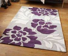 Purple And Grey Area Rugs Area Rug Silver Purple 6x9 Modern 100 Wearing Polyester