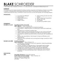 Resume Warehouse Warehouse Associate Resume Sample Free Resume Example And