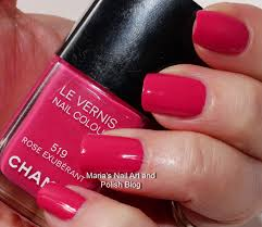 marias nail art and polish blog chanel rose exuberant 519 rouge