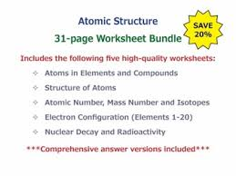 nuclear decay and radioactivity worksheet by
