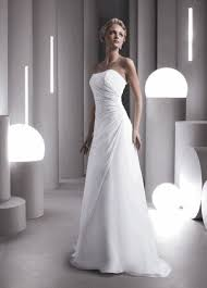 Chiffon Wedding Dresses 4885 Chiffon Wedding Dress Ivory White