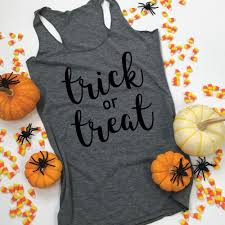 Halloween Shirts Women Halloween Apparel Trick Or Treat Halloween Tanks