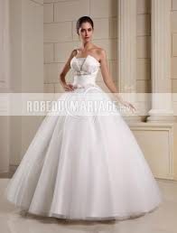 robe de mari e pas cher princesse robe de mariée princesse bustier tulle jupe volume fleur pas cher
