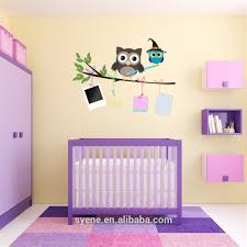 Owl Nursery Wall Decals by Syene New 3d Cartoon Owls Tree Branch Photo Frame Memory Family