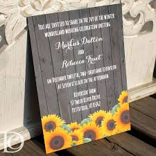 Sunflower Wedding Invitations Sunflower Wedding Invitation Wedding Invitations