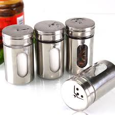 popular kitchen containers condiment buy cheap kitchen containers 1 pcs hot 4 different needs rotating holes spice jars condiment pot salt pepper kitchen storage