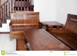 Wooden Sofa Old Style Wooden Sofa Suite Stock Photography Image 14522962