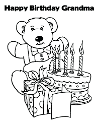 free grandparents day coloring pages happy birthday grandma