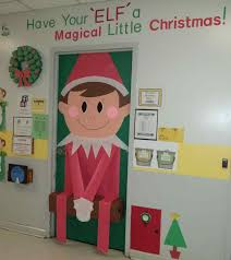 fun creative christmas office door decorations steps decorating
