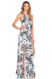 stylestalker hawaiian sunset maxi dress in white lyst