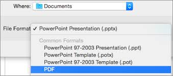 save a presentation as a pdf in powerpoint 2016 for mac