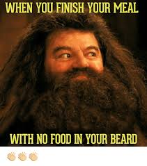 Beard Memes - when you finish your meal with no food in your beard