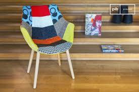 neo patchwork armchair seat 45 cm armrest 64 cm pib