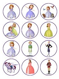sofia the cake topper sofia the edible image cupcake toppers