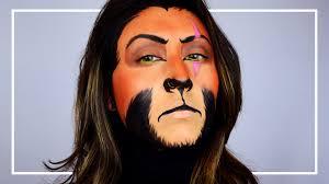 Lion Halloween Costume Scar Lion King Makeup Tutorial Shelingbeauty Halloween