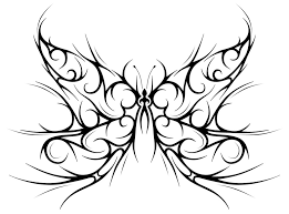 free tribal butterfly tattoo design clip art library