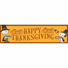 peanuts happy thanksgiving classroom banners eureka school