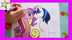 how to draw princess cadence and shining armor my little pony with