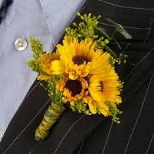 boutonniere flower of sun boutonniere and corsage wedding package