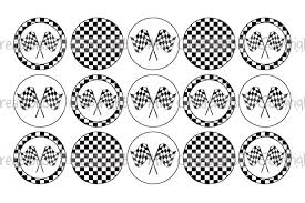 Checkered Flag Ribbon Checkered Flags Backgrounds Bottle Cap Images 4x6 Printable