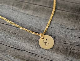 Personalized Stamped Necklace Tiny Initial Necklace Gold Initial Necklace Dainty Initial