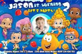 bubble guppies birthday invitation party photo printable 1st