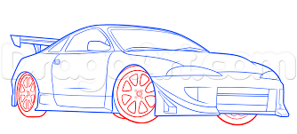 how to draw a mitsubishi eclipse step by step cars draw cars