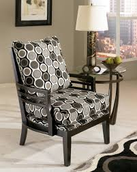 interior beautiful yellow floral motif home accent chair combined