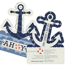 nautical baby shower invitations ahoy nautical baby shower theme bigdotofhappiness