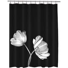 Dainty Home Flamenco Ruffled Shower Curtain Black And White Shower Curtains Ikea Tvingen Shower Curtain