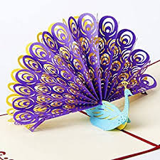 birthday cards paper spiritz peacock pop up birthday card for