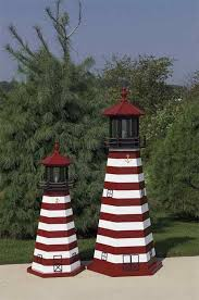 Lighthouse Garden Decor West Quoddy Wooden Garden Lighthouse By Dutchcrafters Amish Furniture