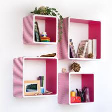 Kids Wall Shelves by Square Wall Shelves Desi Karigar Wall Mount Shelves Square Shape