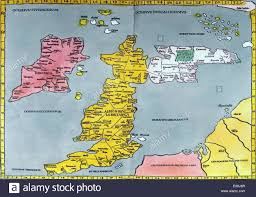 Map Of The British Isles Fifteenth Century Copy Of A Ptolemy Map Of Britain 150 From The
